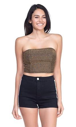 1b21253303b OFASHIONUSA Womens Glitter Tube Top at Amazon Women s Clothing store
