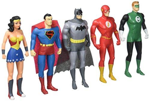 Action Figure Boxed Set (NJ Croce Justice League: the New Frontier 5-Piece Bendable Boxed Set Action Figure Toy)