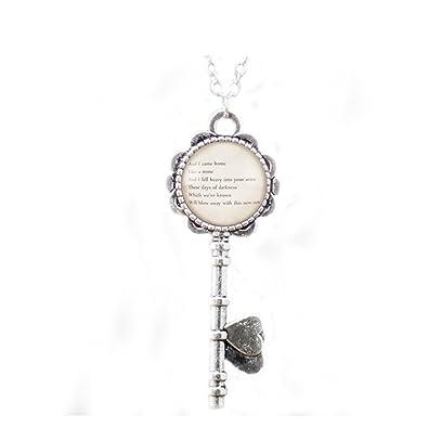 2b26a840f6a76 Amazon.com: Personalized Song Lyric Necklace Pendant, Custom Pendant ...