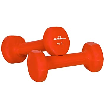 GIMER 13/065 Mancuernas, Naranja, 2 x 3 kg: Amazon.es: Deportes y aire libre