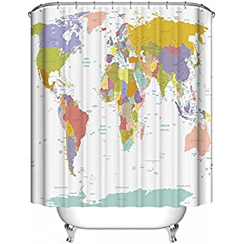 Amazon.com: Dimaka Shower Curtain for Girls, Bathroom ...