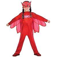 Amscan PJMASQUES BIBOU-Owlette Deguisement, 9902950, Rouge, 7/8 ans