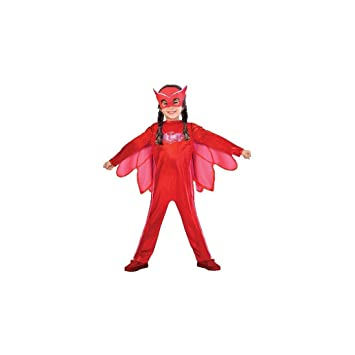 Childrens Size PJ Masks Disfraz de Owlette Large (7-8 years)