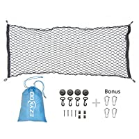 "EZYKOO Cargo Nets 47x26"" Nylon Rear Cargo Organizer Flexible SUV Cargo Net Mesh for Most Truck SUV Car"