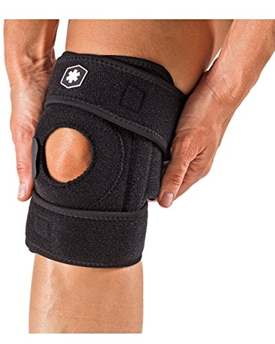 Stabilizing Knee Brace For Compression and Knee Pain Relief. Open Patella Neoprene Knee Support For Aching Knees and Knee Recovery. IWF765 by ICEWRAPS Fitness (Stabilizing Knee Brace Neoprene)