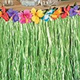 Hawaiian Luau Hibiscus Green Table Skirt 9Ft Party, Health Care Stuffs