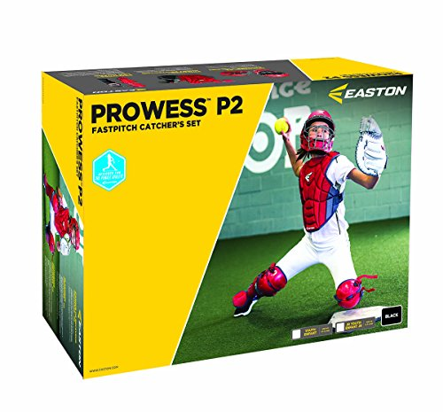 - Easton Prowess P2 Fast Pitch Catcher's Box Set, Black