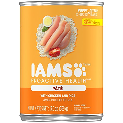 IAMS PROACTIVE HEALTH PUPPY With Chicken and Rice Pate Wet Dog Food 13.0 Ounces (Pack of 12) (13.2 Ounce Puppy Food)