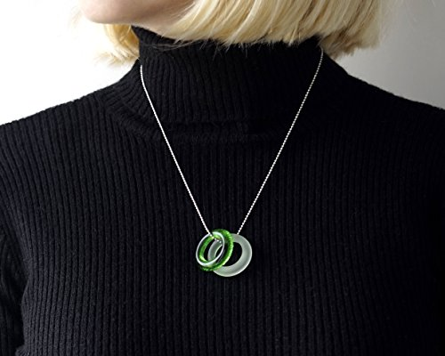 Recycled Glass Gin and Tonic Necklace - Tanqueray and Tonic Bottle Pendants