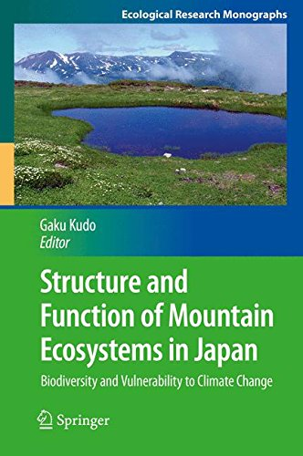 Structure and Function of Mountain Ecosystems in Japan: Biodiversity and Vulnerability to Climate Change (Ecological Res