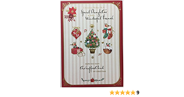 Amazon Com Traditional Daughter Fianc E Christmas Both Of You Nice Verse Greeting Card New Office Products
