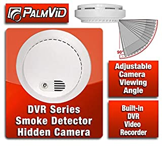 PalmVID Smoke Detector Hidden Camera Spy Camera with Adjustable View DVR Series