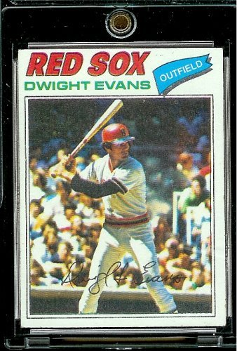 1977 Topps # 25 Dwight Evans Boston Red Sox Baseball Card