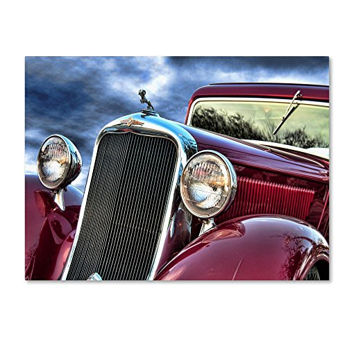 Red Dodge by Lori Hutchison, 18x24-Inch Canvas Wall Art