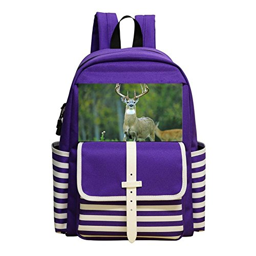 Running Deer Backpack School Bags Student Book Bag Daypack For Students