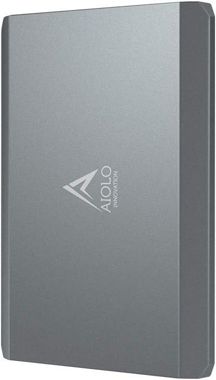 AIOLO 1TB Disco Duro Externo portátil Aleación de Aluminio Tipo C USB3.1 HDD Almacenamiento Compatible para PC