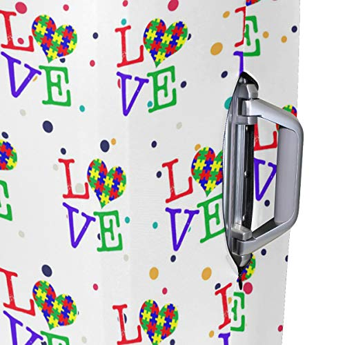 Love Heart Travel Luggage Cover - Suitcase Protector HLive Spandex Dust Proof Covers with Zipper, Fits 18-32 inch by HLive (Image #4)