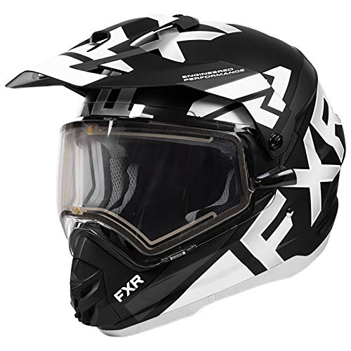 FXR Torque X Evo Helmet - Electric Shield - White/Black - LRG