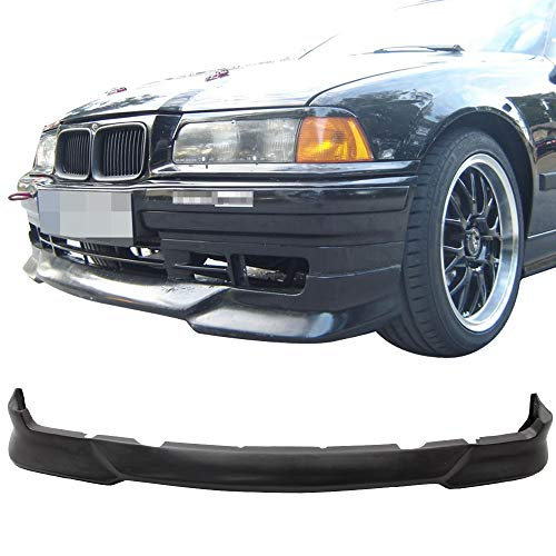 Front Bumper Lip Fits 1992-1998 BMW E36 3-SERIES | M-Tech Style PU Black Front Lip Spoiler Splitter by IKON MOTORSPORTS