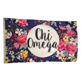 chi omega flag - Chi Omega Floral Pattern Letter Sorority Flag Greek Letter Use as a Banner Large 3 x 5 Feet
