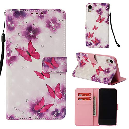iPhone XR Case, ZERMU 3D Cute Pattern Shockproof Kickstand Feature Premium PU Leather Magnetic Flip Folio Wallet Purse Case with Card Holder ID Slot and Hand Strap Cover for iPhone XR 6.1 inch 2018