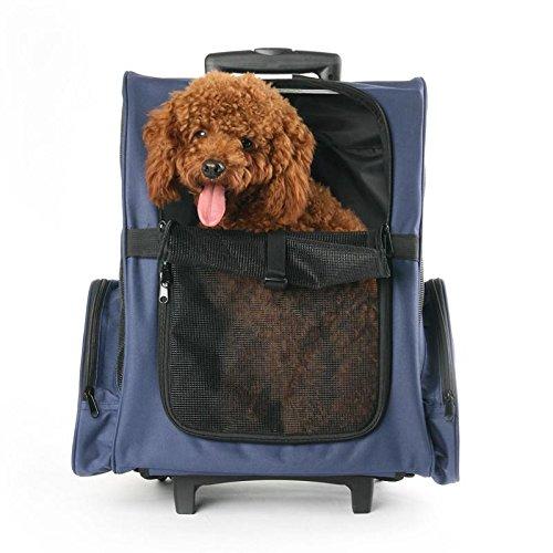 Pet Travel Bag Pet Case Innovative Traveler Outdoor Backpack Pet Carriers Lever pet Box (L44×W28×H50(100)cm) , 2 by GJX