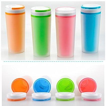 readycor (TM) nuevo 500 ml botellas de agua Moda deporte doble plástico esmerilado taza