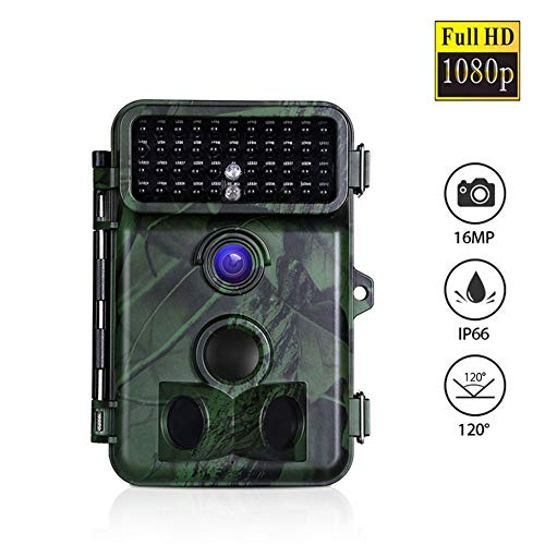 MC.PIG Outdoor Game Hunting Cameras, Waterproof 16MP 1080P Full HD Hunting Camera Infrared Wildlife Camera with 65ft Night Vision, 2.4