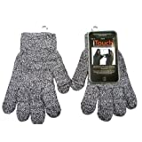 Touchscreen Grey Marled Gloves for Women