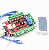 4 Axis Nema23 Stepper Motor USB CNC Breakout Board usb Interface Board USBCNC Controller Card with Handle Control For CNC Router Engraving Milling Machine