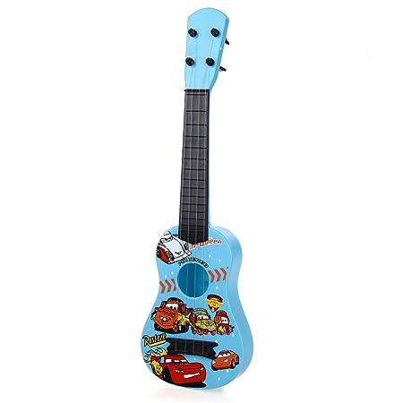Mini Guitarra Plástico Azul Juguete para Niños Infantil: Amazon.es: Instrumentos musicales