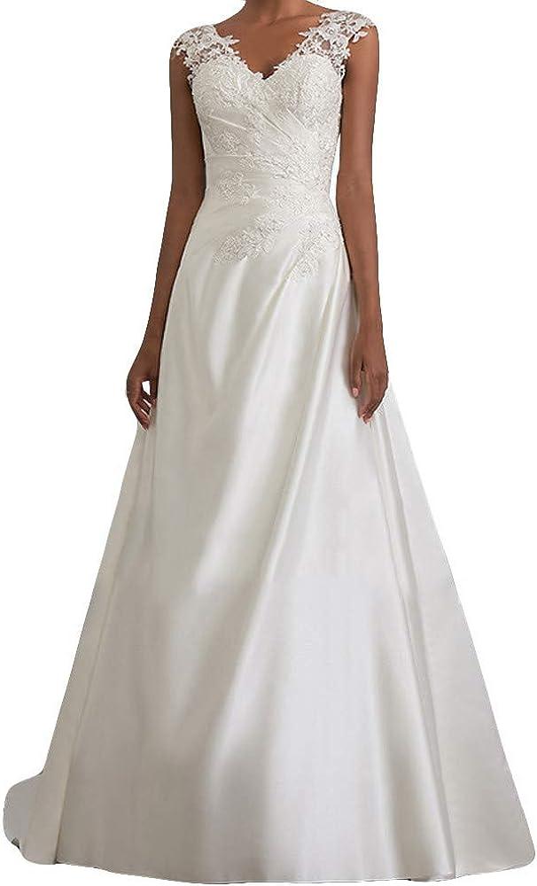 Vestidos para Mujer, Elegante Vestido de Novia Encaje Vestidos de ...