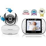 Motorola MBP36S 3.5 İnç LCDEkran Dijital Bebek Kamerası, Beyaz