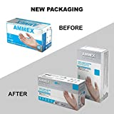 AMMEX Clear Vinyl Medical Gloves, Box of 100, 3