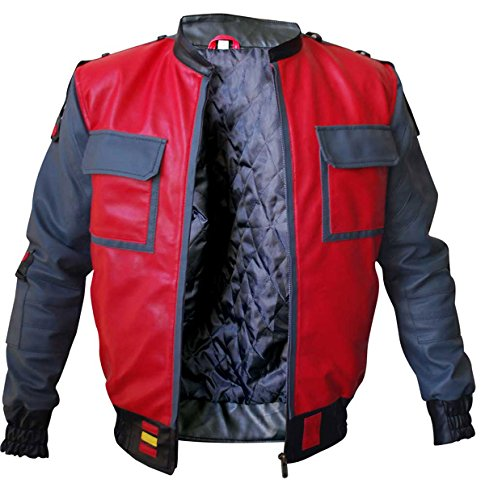 Marty McFly Back to The Future 2 Michael J. Fox Bomber Faux Leather Jacket -