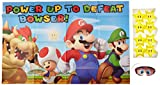 """Super Mario Brothers Birthday Party Game Activity, Paper, 37"""" x 24"""", Pack of 3"""