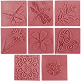 Brand New Soap Embossing Stamp Assortment 8/Pkg-Square Brand New