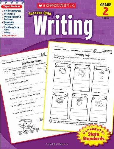 Scholastic Success with Writing, Grade 2 (Skills For Success Reading And Writing 2)