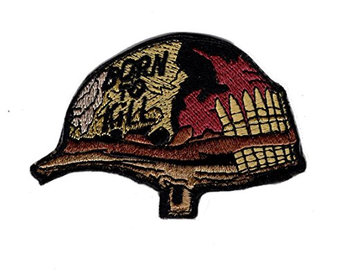 Born to Kill Full Metal Jacket Helmet Embroidered Hook Patch by Miltacusa