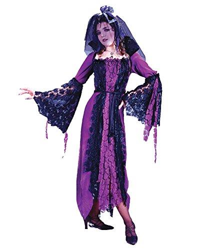 [Classic Devil Dracula Bride Costume Dead Death Zombie Bride Theatre Costumes Sizes: One Size] (Dead Bride Halloween Costume Ideas)
