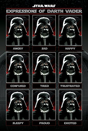 Star Wars - Movie Poster / Print (The Many Expressions Of Darth Vader - Angry, Sad, Happy) (Size: 24