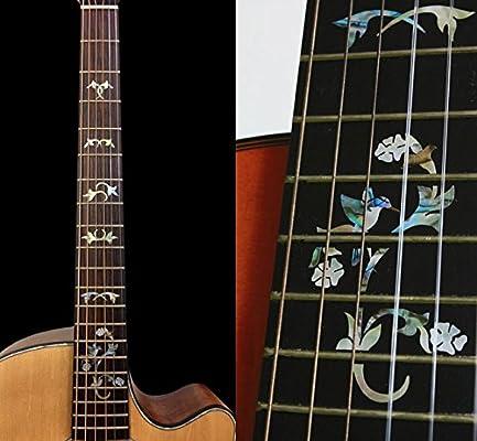 Diapasón marcadores Inlay adhesivo adhesivos para guitarra ...