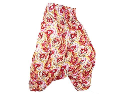 Femme Aladin Imprimé Sarouel Harem Ethnique Pantalon Bouffant Yoga Rose Pant Rouge Aladdin Baggy wtUqwdpF