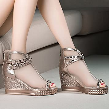 a598eb4ba89 AJUNR Ladies New Fashion Shoes Hill The New Slope With Sandals And  Flip-Flops Net