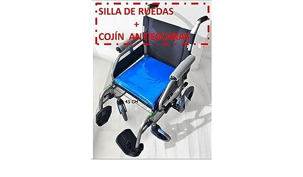 !!!SILLA DE RUEDAS + COJÍN ANTIESCARAS¡¡¡ SILLA PLEGABLE