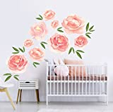 Better Than Paint E116374 Faster & Easier Than Stenciling, Painting Or Wallpaper: This Is Not A Decal, This Is An Art Transfer Watercolor Blooms Wall Décor Fast & Easy, Pink