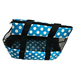 Juway Pets Girls Outdoor Breathable Mesh Dogs Bag(Blue,L)