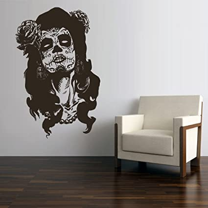 Wall Decal Vinyl Sticker Decals Art Decor Skull Tattoo Girl Sunglasses Victorian Zombi Makeup Hair Salon & Amazon.com: Wall Decal Vinyl Sticker Decals Art Decor Skull Tattoo ...