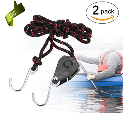 - Kayak and Canoe Rope Hanger,Auto Racks Malone Sentry Ratchet Tie Down,Cargo Lashing Rope Ratchet Grow Light Fixture Pulley Hanger,Adjustable Bow and Stern Tie Downs 1/4