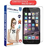 CELLBELL Apple iPhone 6,6s,7,8 Screen protector [0.3mm strong Curved Edge Tempered Glass], compatible with 3D touch and Round edge cases-PACK OF 2